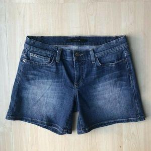 Joe's Jeans Allison Blue Mid Rise Stretchy Shorts